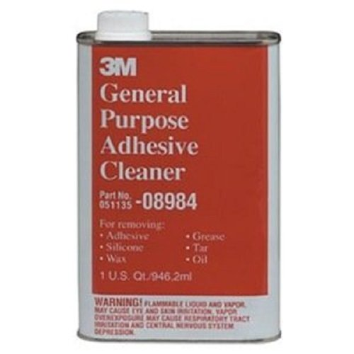 - 3M 08984 General Purpose Adhesive Remover & Cleaner, Quart, 6-Pack