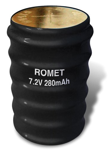 Romet 7.2 Volt 280 mAh Rechargeable Cylinder Battery - Strongest Battery Made for Either Romet or Servox Electrolarynx - 6 Month Warranty. Compare Before You Buy!