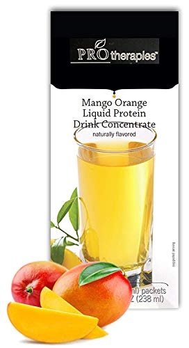 High Protein Liquid Concentrate Fruit Drink 15g - Mango Orange Low Carb Liquid Protein Nutritional Supplement Mix (7 Servings/Pack)