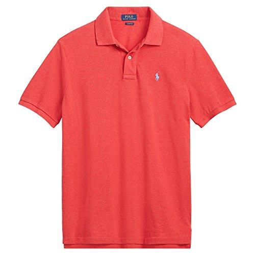 Polo Ralph Lauren Classic Fit Mesh Pony Logo Polo Shirt (XXL, SentryRedHth) ()