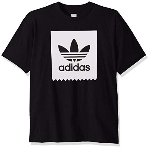 adidas Originals Men's Skate Solid Blackbird Tee, black/White, X-Large
