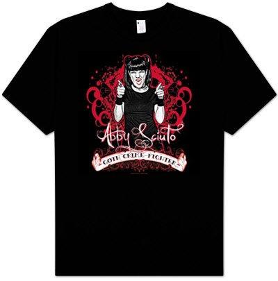 NCIS TV Show GOTH CRIME FIGHTER Abby Sciuto Adult Black T-shirt Tee Shirt, Medium Goth Crime Fighter