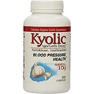 Kyolic Aged Garlic Extract Formula 109, Blood Pressure Health, 160 capsules