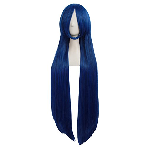 MapofBeauty 12//30cm Dark Grey and Black and Dark Blue Side Bangs Short Straight Cosplay Party Wig