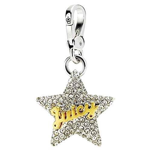 "Juicy Couture Pave ""Juicy' Star Charm Silver"