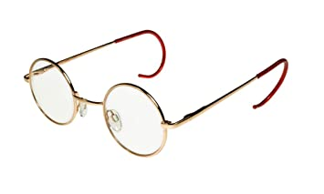 ebe2b6b9bd i sunglasses.com Round John Lennon Glasses Curly Cable Temples Gold Clear M