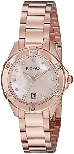 Bulova 97R101 13mm Rose Gold Rose Gold Watch Bracelet