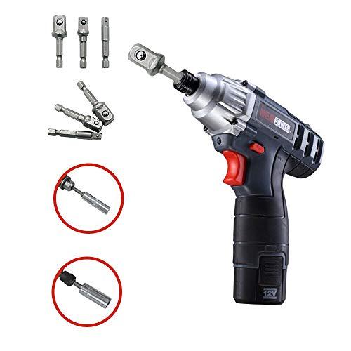(Hopeg Garden Home Rotary Tool - Hex Shank Drive Power Drill Bit Wrench Sleeve Extension Socket Driver Adapter,3 pcs/Set)