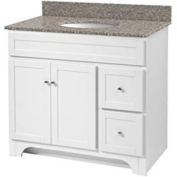 Foremost Nawa3621d Naples 36 Inch Width X 21 Inch Depth Vanity Cabinet White Bathroom