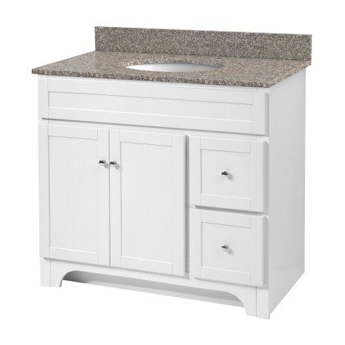 Foremost WRWA3621D Worthington 36-Inch White Bathroom Vanity