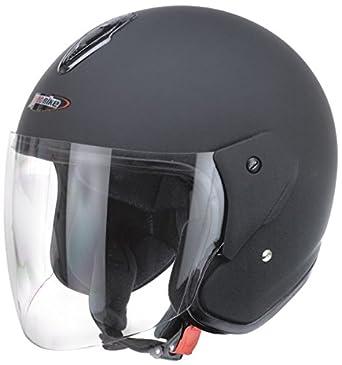 Casco Jet Visera Negro Mate Homologado x Moto Universal Custom Momento Vespa Scooter Cruiser Street XS
