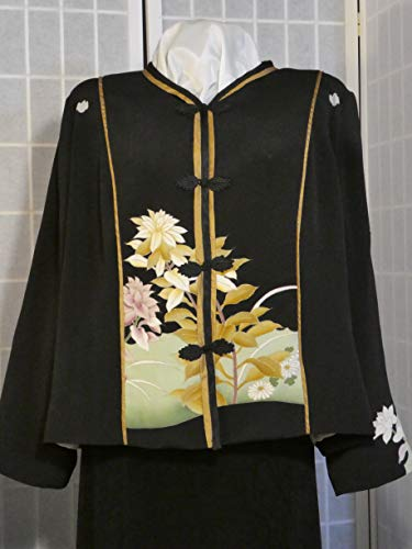 Pheasant Silk - Plus size jacket embroidered