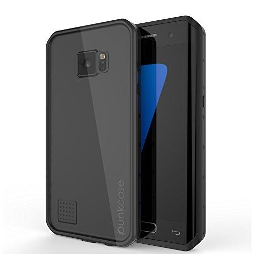 Galaxy S7 Edge Waterproof Case, Punkcase [StudStar Series] [Slim Fit] [IP68 Certified] [Shockproof] [Dirtproof] [Snowproof] Armor Cover for Samsung Galaxy S7 Edge [BLACK]