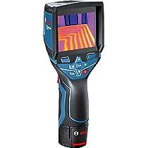 Bosch Professional Cámara termográfica GTC 400 C (1 batería 1,5 Ah, cargador rápido, cable micro-USB, maletín L-BOXX, 12 V, punto de acceso wifi integrado, margen de medición: de − 10 °C a + 400 °C)