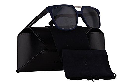Christian Dior Homme Dior0200S Sunglasses Blue Black Rubber w/Grey Lens 55mm EMC72 Dior 0200S Dior 0200/S Dior0200/S