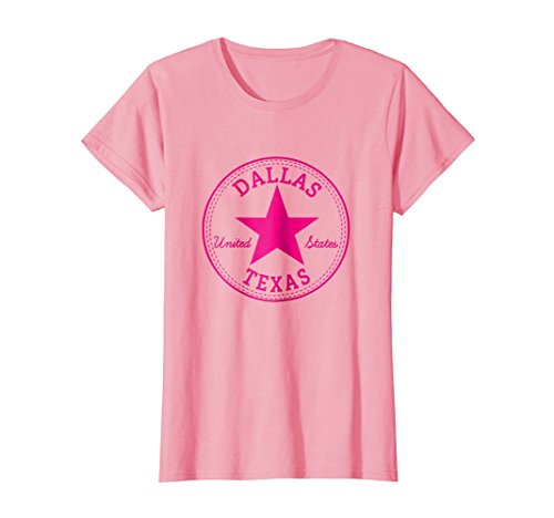 - Womens Cool: Dallas Texas United States USA T-Shirt Large Pink