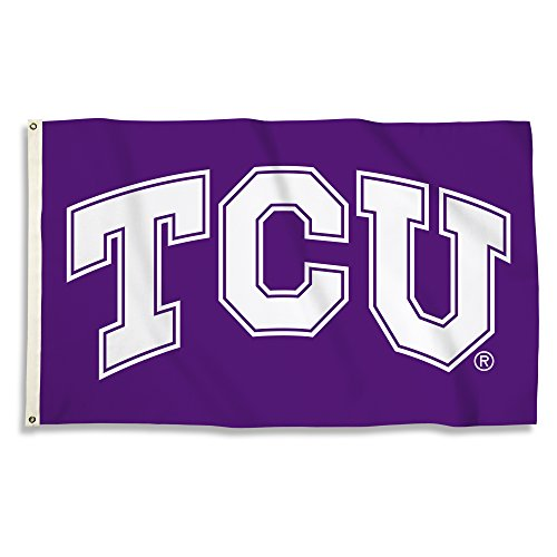 NCAA Tcu Horned Frogs 3 X 5 Foot Flag with Grommets, -