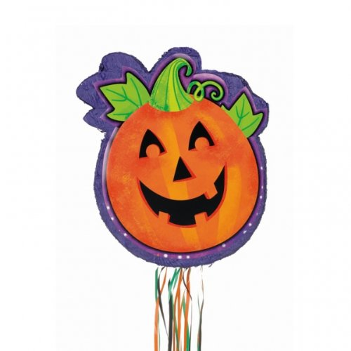 Amscan Pumpkin Shaped Halloween Party Pull Pinata