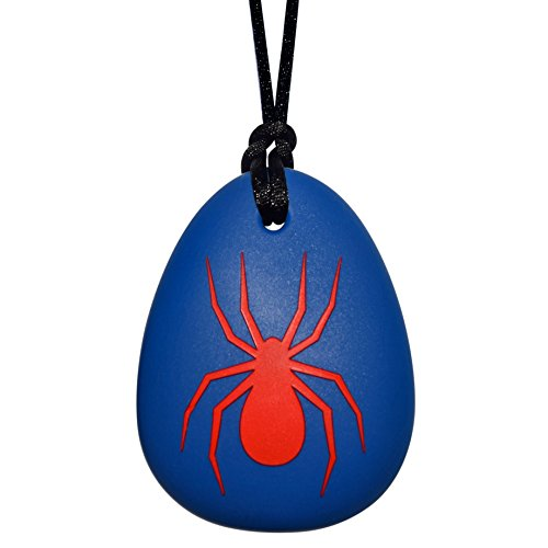 Spider Sensory Chewelry - Munchables Chew Necklace (Blue with Red) by Munchables Chewelry