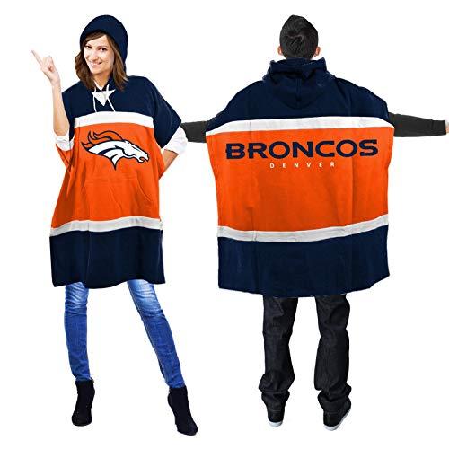 NFL Denver Broncos Hoodie Poncho