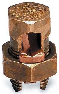 Thomas & Betts 4H3 BB Bronze Alloy Split Bolt Connector, H Type, Hexagonal Bot and Nut (Pack of 100) by Thomas & Betts