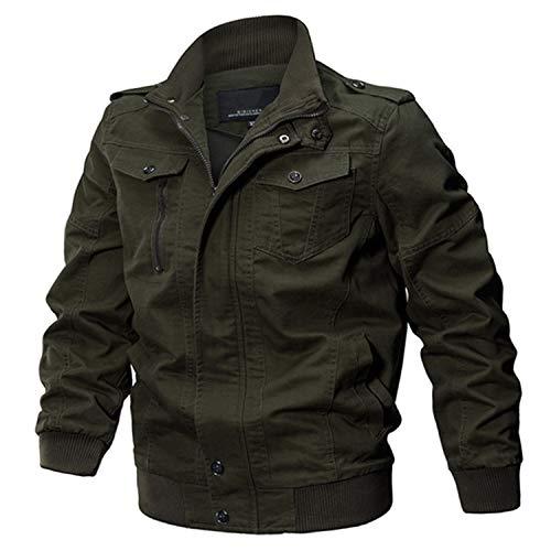Ting room Military Jacket Men Big Size 6XL Bomber Jacket Men Autumn Winter Outwear,Army Green 2,M