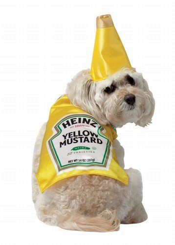 Heinz Mustard Bottle Pet Dog Costume Select Size: X-Small by Rasta Imposta - Heinz Dog Costume