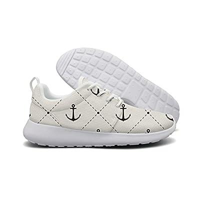 Anchors Pattern Women Flex Mesh Lightweight Shoes For Women