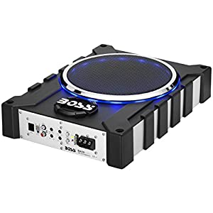 BOSS Audio BASS1600 1600 Watt Low Profile Amplified 10 Inch Subwoofer with Remote Subwoofer Control