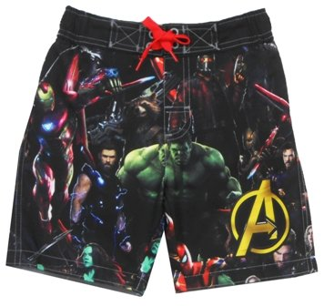 Avengers Superhero Boys Swim Trunks Swimwear (Toddler/Little Kid/Big