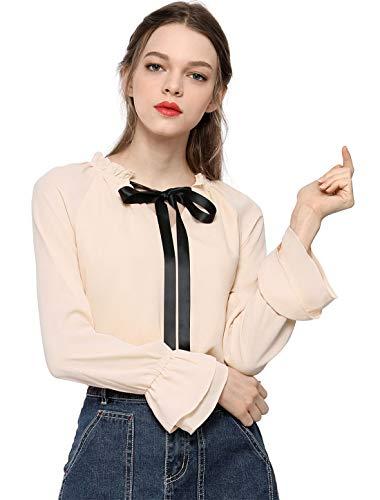 Tie bow neck chiffon workwear