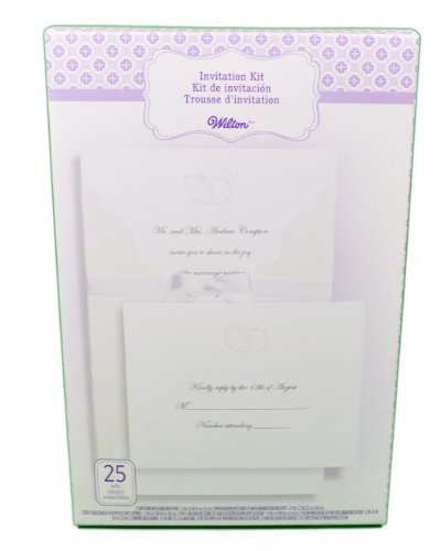 WILTON 25-Count Invitation Kit - Embellsihed (Wilton Print)