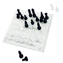 Trademark Games 80-23001 Elegant Glass Chess and Checker Board Set