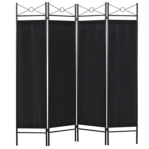 Best Choice Products Home Accents 4 Panel Room Divider-Black ()