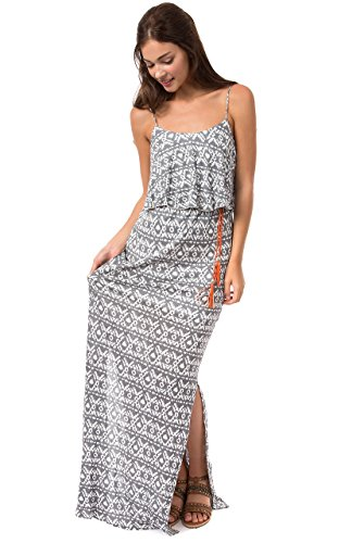 Teeze Me Juniors Spaghetti Strap Popover Printed Maxi Dress by Teeze Me