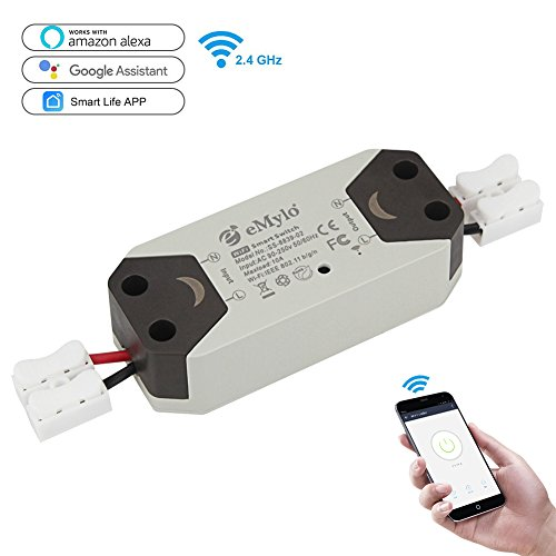 eMylo Wifi Switch Smart Wireless Remote Control Electrical For DIY Home Automation Relay Module 10A 90-250V Support IOS Android (Control Wireless Relay)