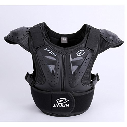 Takuey Children's Professional Armor Vest Protective Gear Jackets Guard Shirt For Dirtbike Motocross Skiing Snowboarding Dirt Bike Body Chest Spine Protector Back Motorcycle Support (Black, M)