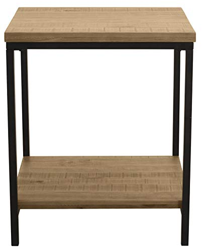 Ravenna Home Justin Rustic Side End Table, 20 W, Wood Grain