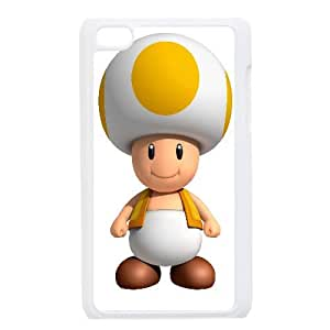 Yellow Mushroom Game iPod Touch 4 Case White TPU Phone Case SV_282307