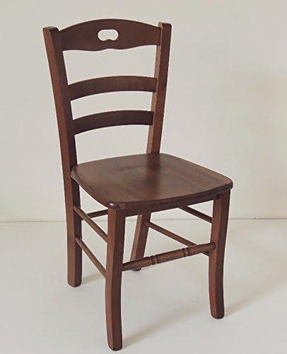 Ordine min. 2 pz sedia paesana in legno massello noce con