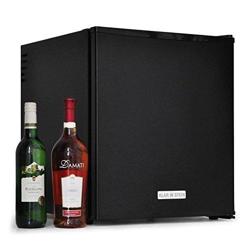 Klarstein Design Minikühlschrank / Weinkühlschrank / Getränkekühlschrank freistehend mit geräumigen 40 Litern - Ideal als Minibar mit Flaschenfach + 2 Regale