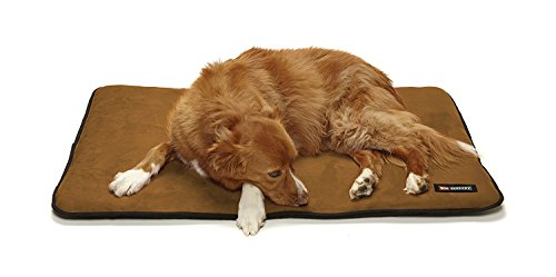 - Big Shrimpy Landing Pad Faux Suede Crate Mat For Dogs & Cats, Extra Large, Saddle