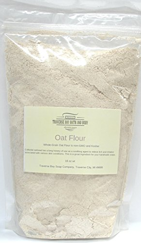 Colloidal oatmeal (oat flour), 16 oz Great for soap making ()
