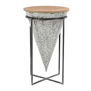 Deco 79 98746 98746 Accent Table, Gray, Brown