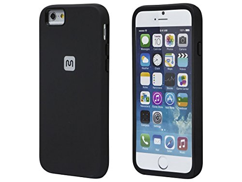 Monoprice PC+TPU Protector Case for 4.7-inch iPhone 6 and 6s - Black