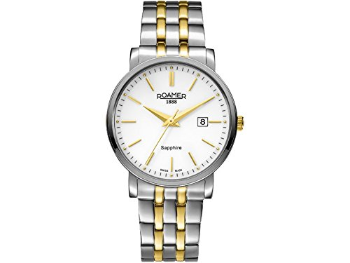 Roamer 709856-47-25-70 Mens Classic Line Silver and Gold Plated Bracelet Watch