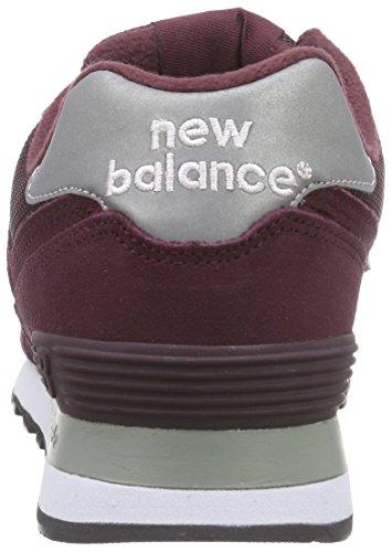 Para Hombre bordeaux Burgundy De Clasico Deporte Balance Zapatillas New Rojo M574 wx0An6qTBY