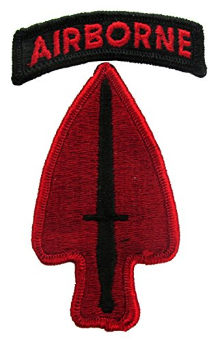 Special Operations Uniforms - Special Operations Command Patch with Airborne Tab (DRESS PATCH (Full Color))