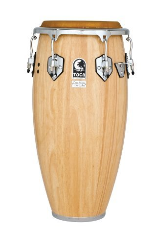 Toca 4611-3/4NW Custom Deluxe Wood Conga - Natural Wood Finish