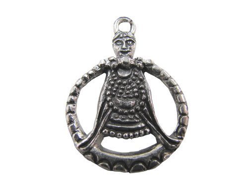 Viking Freya Goddess of Love Pewter Pendant, Pagan